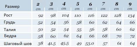 mayoral таблица размеров