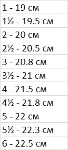 North Face таблица размеров обуви
