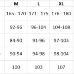 Таблица размеров Lasting