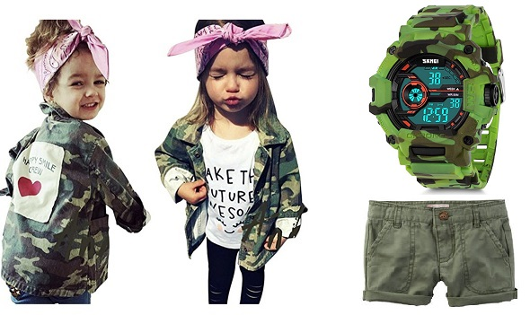 Детская мода 2018 милитари