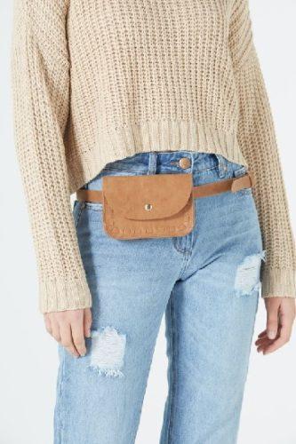 Как носить поясную сумку женскую