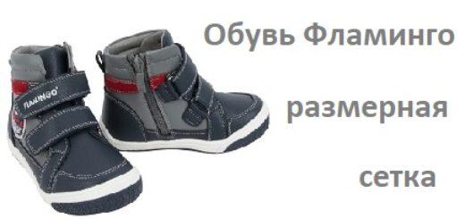 Обувь Фламинго размерная сетка